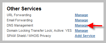 My Domain Other Services Section