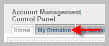 My Domains Tab