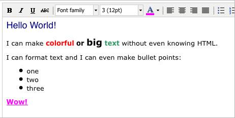 TinyMCE HTML Editor