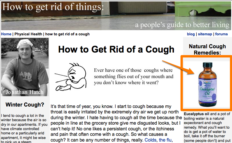 Screen Shot of How to Get Rid of a Cough