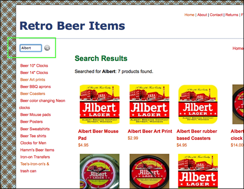 Search at Retro Beer Items