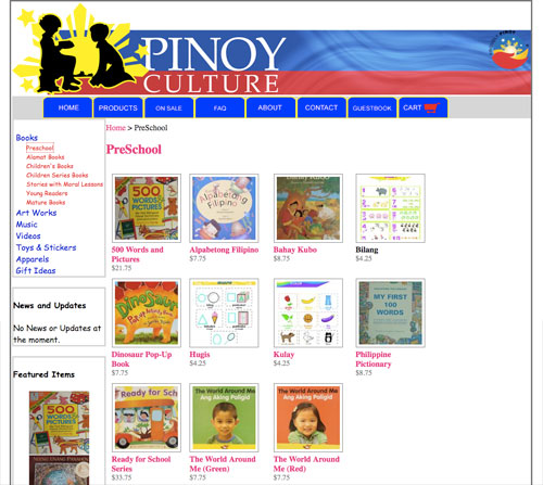 pinoy culture store screenshot