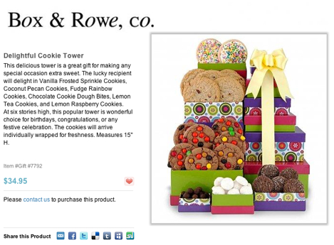 Box and Row Co. Delightful Cookie Tower - Hosted Ecommerce Store on Flying Cart